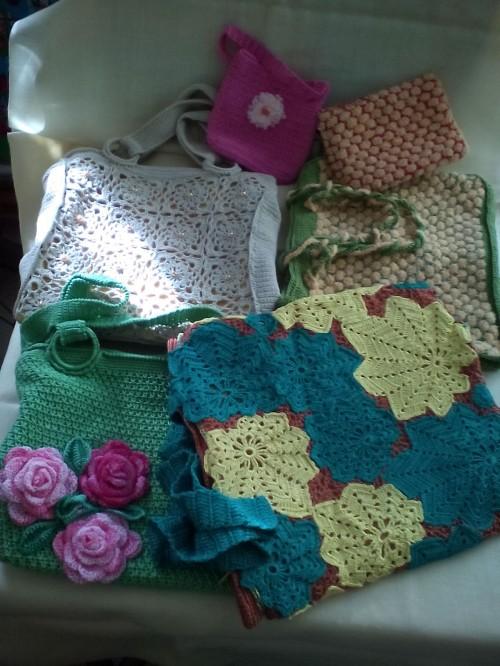 Вязанные летние сумки