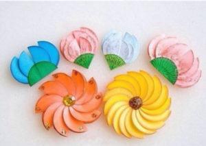 Цветы из бумажных кругов