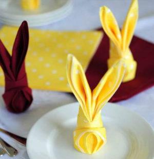 Как сделать кролика из салфетки
