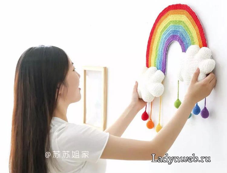 Панно радуга крючком схема