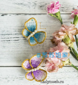Бабочка крючком схема и мастер-класс