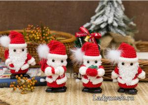 Дед Мороз крючком мастер класс