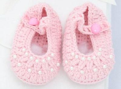 Пинетки сандали для девочки крючком схемы