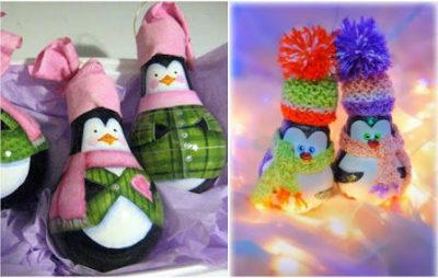 Елочные игрушки из лампочек мастер классы