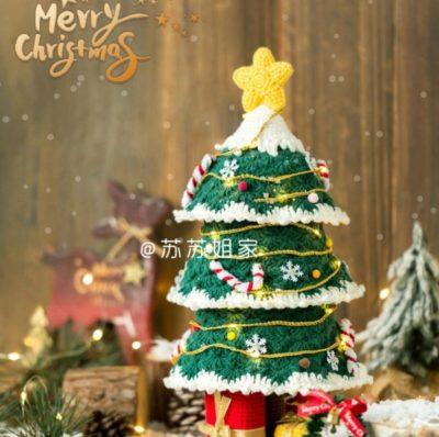 Новогодняя елка крючком схемы